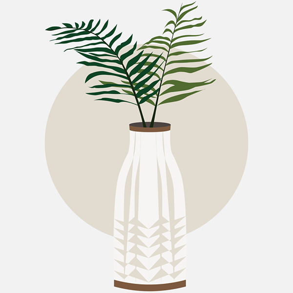 Plant in a white vase.